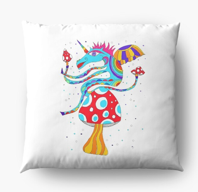 Unicorn cushion white