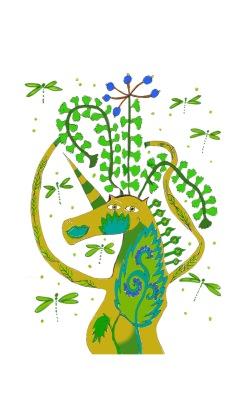 Dragonfly Unicorn sticker